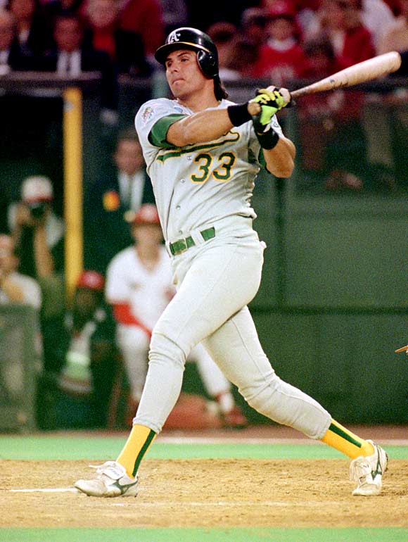 Jose Canseco becomes the first player in baseball history to steal 40 bases and hit 40 home runs in the same season.