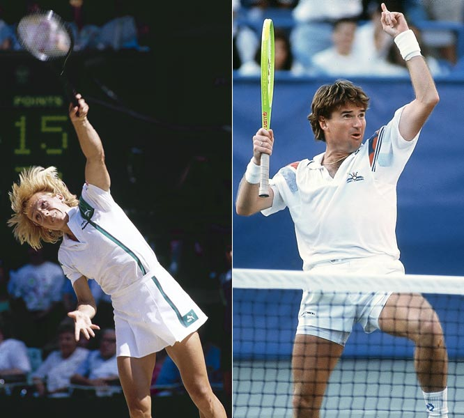 Jimmy Connors beats Martina Navratilova in an exhibition match.