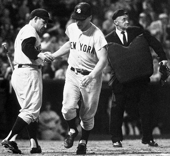 Yankee outfielder Roger Maris ties Babe Ruth's 34-year-old single season home run record with his 60th when he homers off Oriole Jack Fisher.