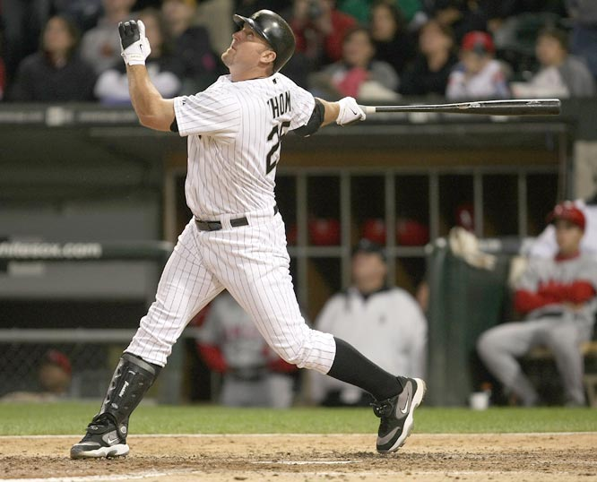 In a dramatic at bat, Jim Thome becomes the 23rd overall to hit 500 career home runs. The historic homer comes in the bottom of the ninth on a full count as the White Sox DH strokes a two-run walkoff round tripper to beat the Angels at U.S. Cellular Field, 9-7 .