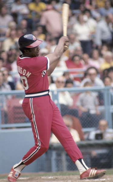 In his last major league at-bat, future Hall of Fame Cleveland manager Frank Robinson strokes a pinch-hit single against the Orioles.