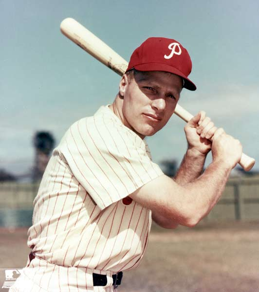 Richie Ashburn becomes the all-time franchise leader collecting his 2,212th hit wearing a Phillies uniform. The historic hit is a ball which caroms off first base for a single in Philadelphia's 9-3 loss to the Braves at Connie Mack Stadium.