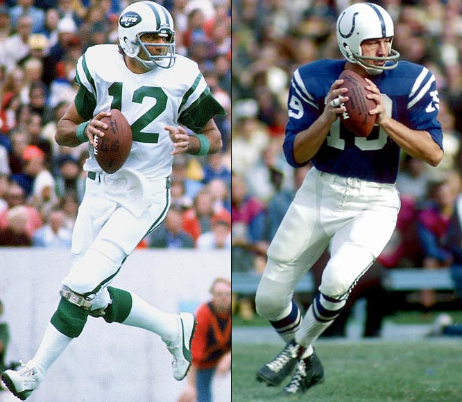 Joe Namath throws for 496 yards and six touchdowns as the New York Jets defeat Baltimore, 44-34. Colts quarterback Johnny Unitas throws for 376 yards as the teams combine for a record 872 passing yards.
