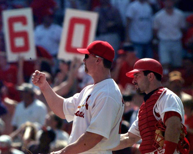 Mark McGwire becomes the third player in baseball history (Babe Ruth and Roger Maris) to reach 60 home runs in a season, as the St. Louis Cardinals beat the Cincinnati Reds 7-0.