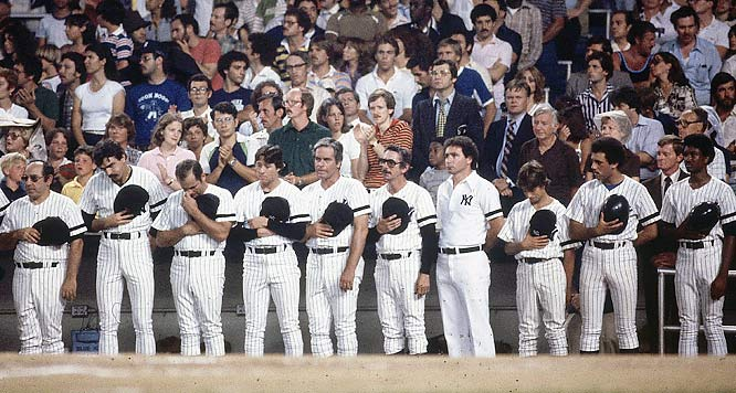 Thurman Munson tribute in 1979.