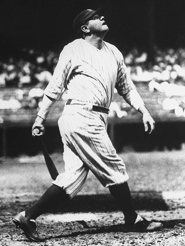 The Babe's 60 home runs in 1927.
