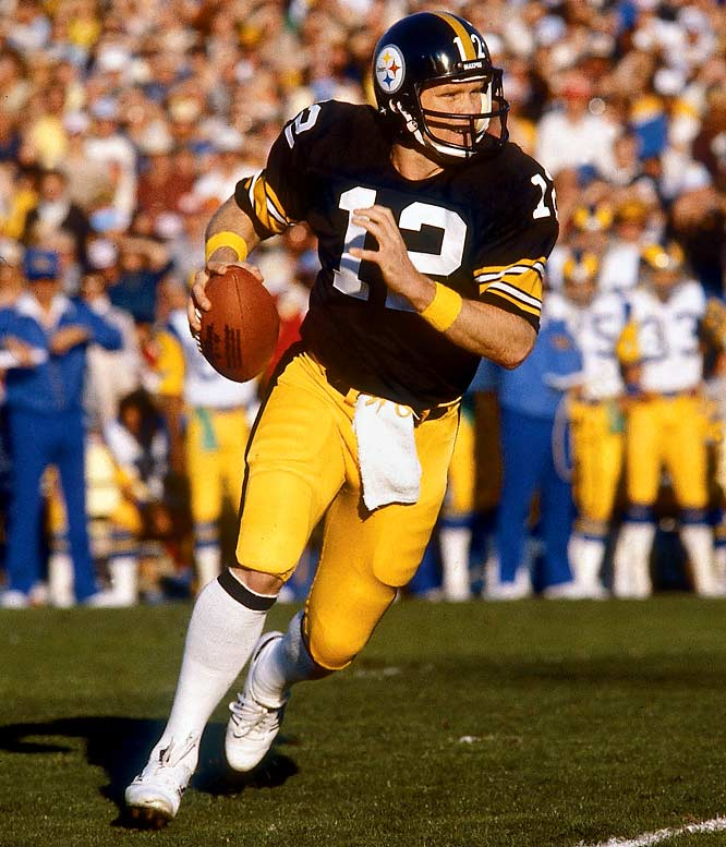 Known most for its Steel Curtain defense, the '79 Steelers were just as proficient on offense, finishing second in the league in both passing and rushing yards. It was two long pass plays from Terry Bradshaw -- 47 yards to Lynn Swann and 73 yards to John Stallworth -- that led the Steelers to a 31-19 Super Bowl win over the Rams.