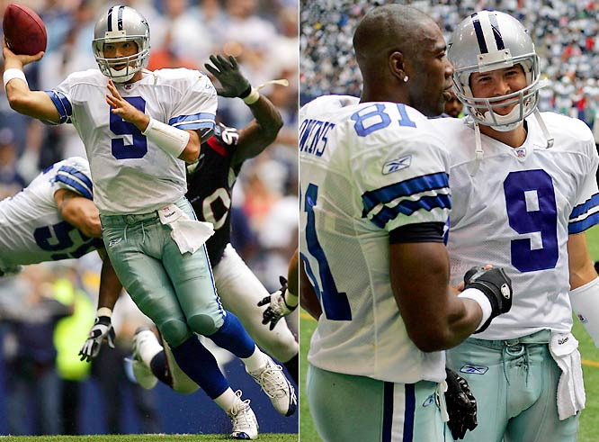 After several years buried on the Dallas depth chart, Romo opened the '06 campaign as Drew Bledsoe's backup. As the Cowboys struggled early in the season under Bledsoe's watch, Romo saw sparing bits of action. He connected with Terrell Owens for his first career touchdown pass in an Oct. 1 game against the Houston Texans.