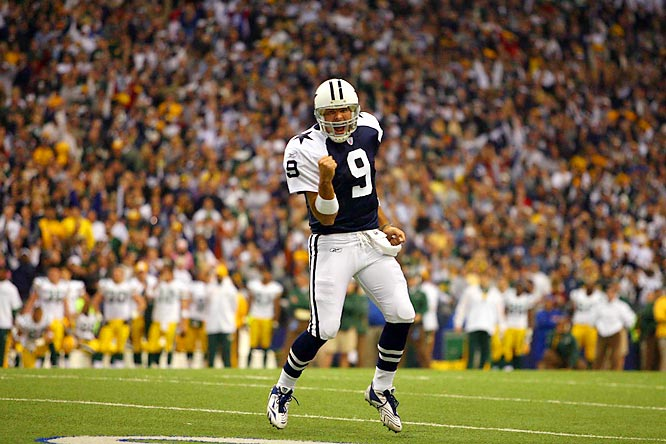 In a Nov. 29 victory over the Packers -- a marquee matchup between 10-1 teams -- Romo threw four touchdowns to break Danny White's single-season franchise record of 29 touchdown passes. In a Dec. 22 victory over the Panthers, Romo became the first Dallas quarterback to eclipse 4,000 yards passing in a single season. The Cowboys would finish the regular season with a 13-3 record and enter the NFC playoffs as the top overall seed.