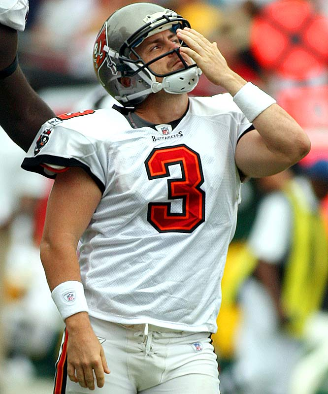 Matt Bryant blew a kiss towards the sky after each kick, in honor of his three-month-old Matthew Tryson Bryant, who died in his sleep just four days earlier.  Bryant was flawless, kicking three field goals and three extra points and making the difference in a 30-21 win over the Packers.