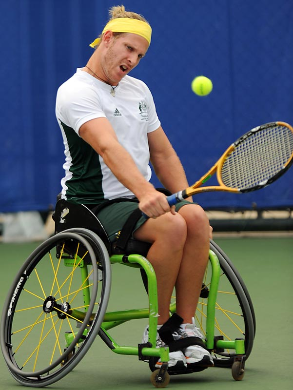 Ben Weeks of Australia in a match against Yoshinobu Fujimoto of Japan.