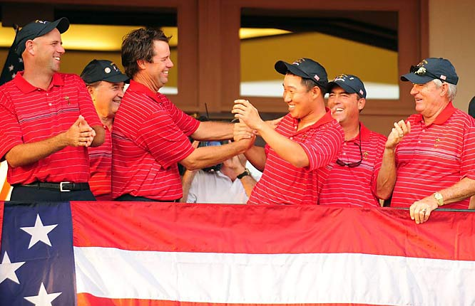 Would it be awkward if the U.S. team told Tiger Woods to stay home before the next Ryder Cup? Without the best player on the planet, the U.S., which had lost the last two competitions against the Europeans in record-setting fashion, won its first Ryder Cup since 1999 and looked looser and more inspired with Anthony Kim than it ever did with Woods.