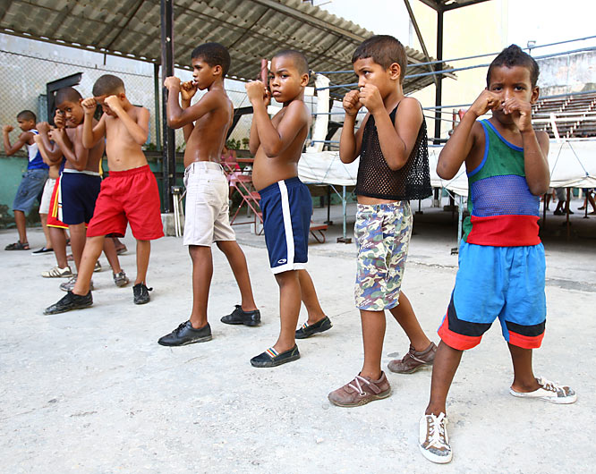 The Rafael Trejo Gymnasium is an open-air boxing gym in Old Havana near the train station that has produced some of Cuba's top–and future–boxers over the years.