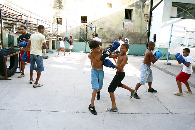 More sparring sessions at the Rafael Trejo Gymnasium in Old Havana.