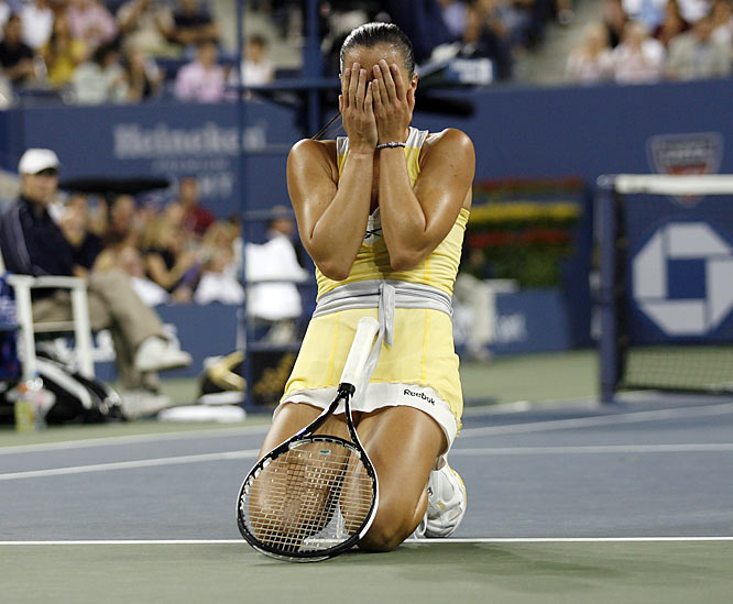 "As the women met at the net after the match finally ended, Williams felt compelled to say to the vanquished Jelena Jankovic, ""I'm sorry I got so excited."""