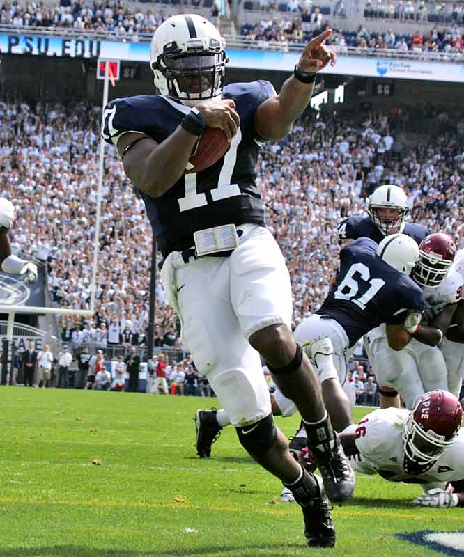 While Ohio State grabs all the Big Ten headlines, the silent, but deadly Nittany Lions continue to steamroll opponents before the conference season begins. Next up for Daryll Clark (196 yards passing, 2 TDs) and Penn State: a home date with Illinois.