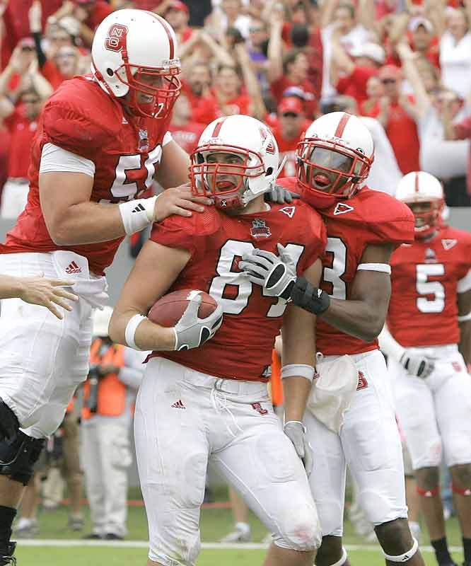 With a golden chance to bust an intrastate rival's BCS chances, George Bryan (58 receiving yards and 1 TD) and the Wolfpack rose to the challenge of toppling East Carolina, this year's football version of Cinderella.