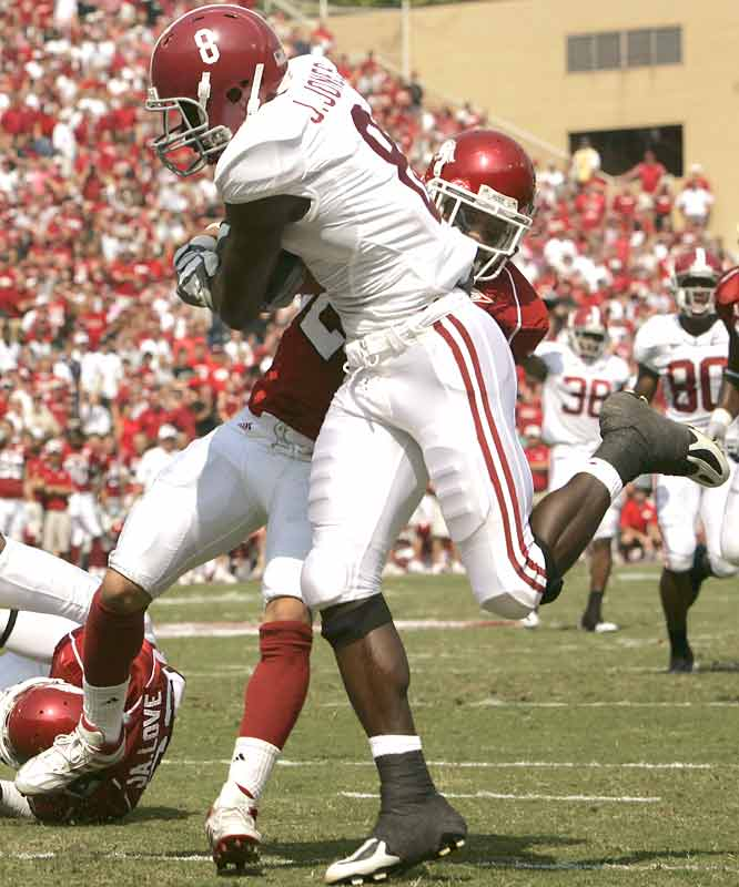 The future is now in Tuscaloosa, apparently. Julio Jones (25-yard TD catch) was one of six non-seniors to score at least one touchdown for the young, but dominant Crimson Tide.