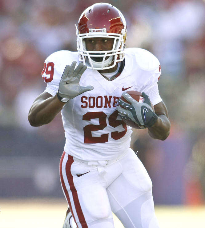 Junior tailback Chris Brown (13 carries for 107 yards) was one of two Sooners to break the century mark (along with DeMarco Murray) in the club's stunningly easy road win over the Huskies.
