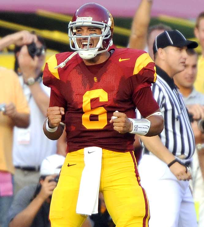 And the hits just keep coming for the Trojans, who maintained their nonconference home dominance (not to mention stranglehold on Big Ten foes) by dismantling the Buckyes. QB Mark Sanchez led the way with four touchdowns.