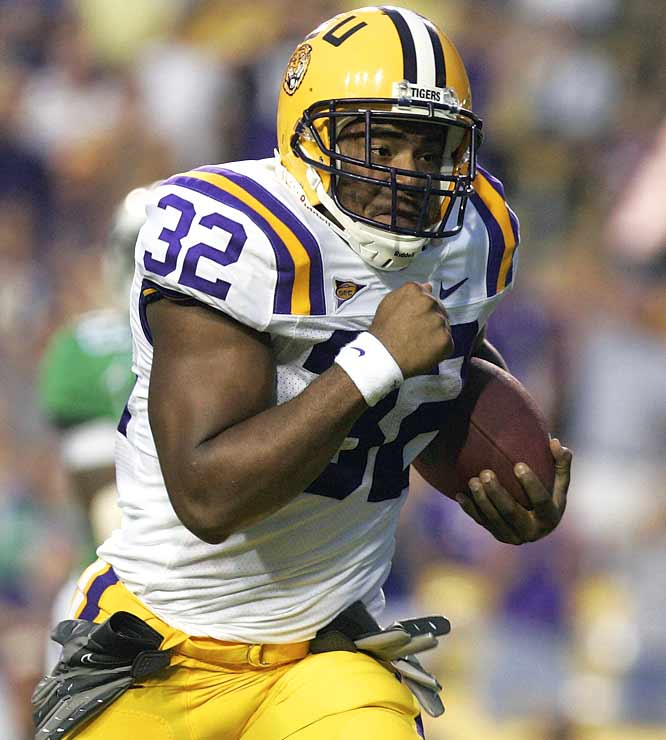 Charles Scott led the Tigers' six-deep stable of running backs on Saturday, amassing 102 yards and two touchdowns. With the Mean Green out of the way, LSU can focus on No. 9 Auburn next week.