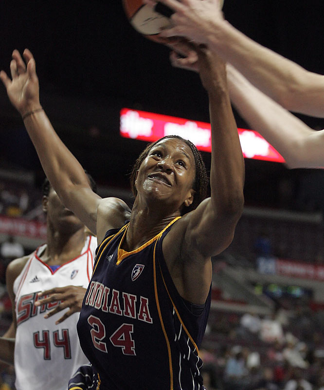 Catchings had 27 points in the Fever's only victory against the Shock in the Eastern Conference semifinals.
