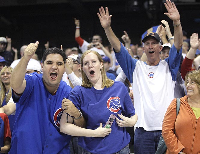 Cubs fans came out in force, accounting for a large majority of the 23,441 in attendance.