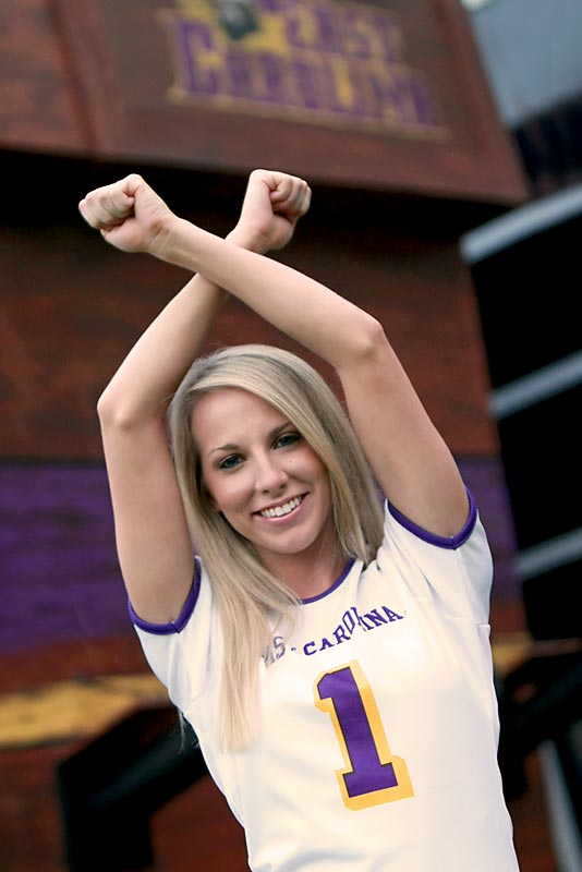 Meet Cassie, an East Carolina senior and proud Pirates cheerleader. When Megan's not watching Denzel Washington movies she's listening '80s music, eating Swedish fish and enjoying time with her family. Want to find out more? Click the 20 questions link below.