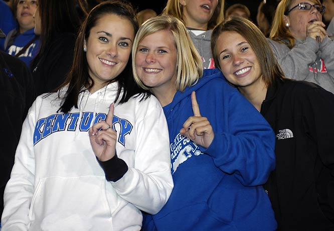 After the Wildcats 21-20 comeback win over Arkansas, these three Kentucky fans felt their team was No. 1.