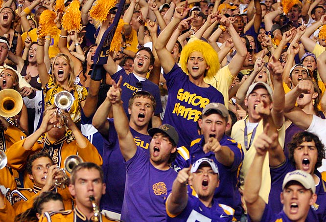 LSU lost badly to conference rival Florida, but the Tiger faithful still roared whenever LSU got into the end zone.