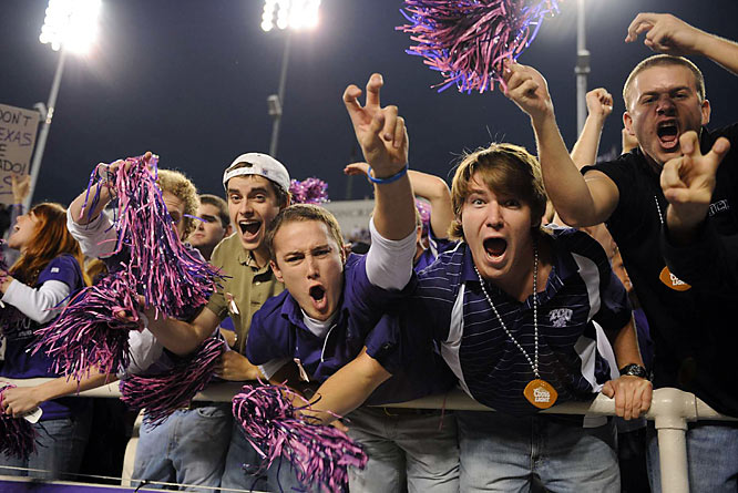 Not only did TCU fans enjoy a win this weekend, they got to see their Horned Frogs take down conference rival and top 10 team BYU.