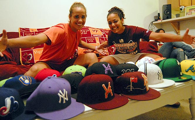 Hall and Mariconda show off their eclectic collection of ballin' hats, which they often sport when heading to class.