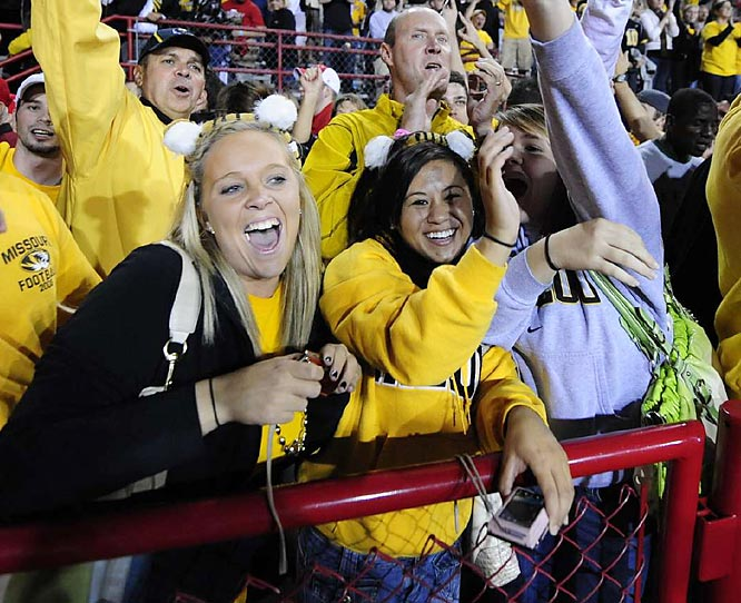 These Missouri fans loved seeing their Tigers win in Lincoln for the first time in 30 years.