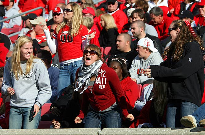 Louisville fans enjoyed watching their improving Cardinals upset then-No. 14 South Florida.