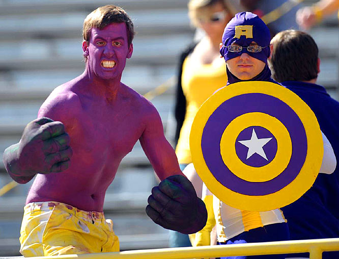 These LSU fans came ready to battle Georgia fans.