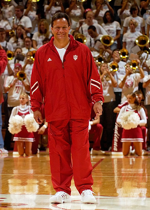 Indiana fans came to Hoosier Hysteria not only to celebrate the start of the season, but also meet an almost entirely new team. The Hoosiers return only one scholarship player under new coach Tom Crean, who looked comfortable in IU red Friday night.