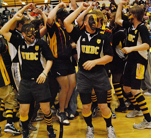 After making their first NCAA tournament appearance, the UMBC Retrievers celebrated Midnight Madness Friday night.