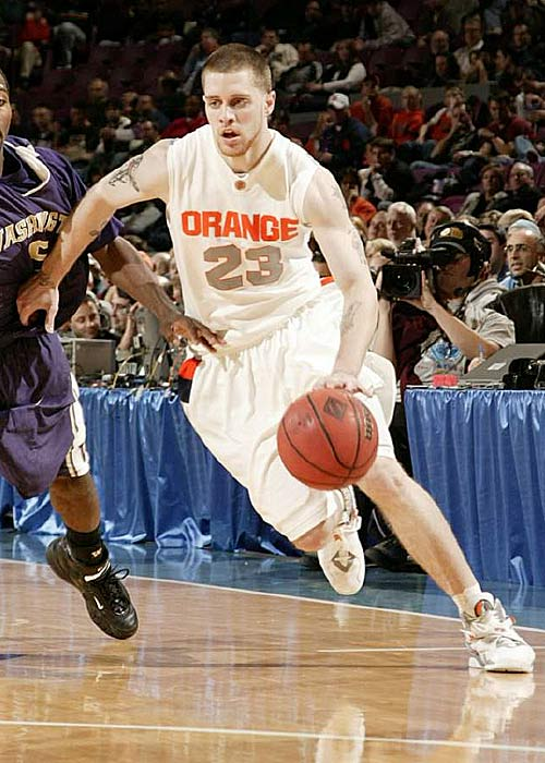 Devendorf (17.0 ppg), pictured, only played 10 games last season before suffering a torn ACL; in his absence, Flynn (15.7 ppg, 5.3 apg) blossomed into a strong point guard and future first-round draft pick. Together they should be able to keep 'Cuse from missing the NCAA tournament for a third straight season.