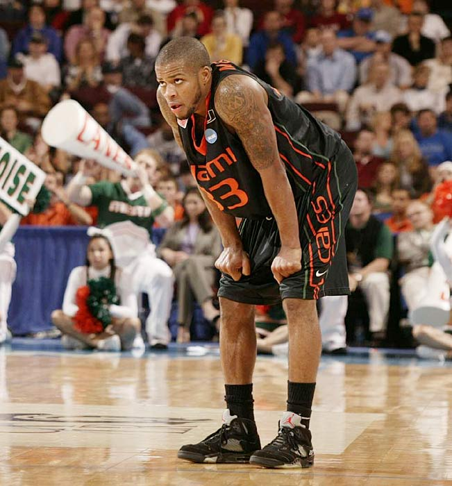 McClinton, pictured, a transfer from Siena, powered the 'Canes into the NCAA tournament last year by averaging 17.7 points and hitting 42.7 percent of his threes. He and Dews both shoot over 90 percent from the free-throw line, while Hurdle isn't far behind at 86.5 percent.