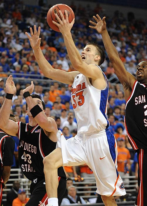 Calathes (15.3 ppg, 6.1 apg), pictured, was the SEC's top freshman last season, and is the Gators' clear star now that Marreese Speights is in the NBA. Lucas (8.5 ppg), Hodge (10.4 ppg) and Walker (a three-star freshman) add enough quality depth for Florida to beat out the likes of Davidson and St. Mary's (both one-man backcourt shows), as well as Texas (lacking in a proven point guard) for the No. 15 spot in our rankings.