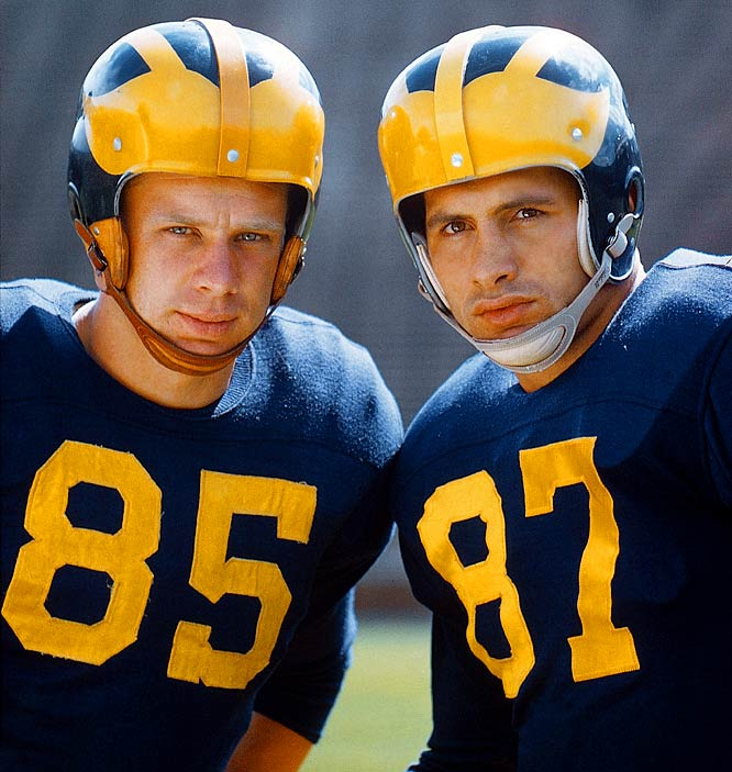 Tom Maentz and Ron Kramer were not only inseparable, but they were two of the best pass-catching ends in the country.   They were both drafted by the NFL, fathered children who were born a day apart in 1958 and remain close.