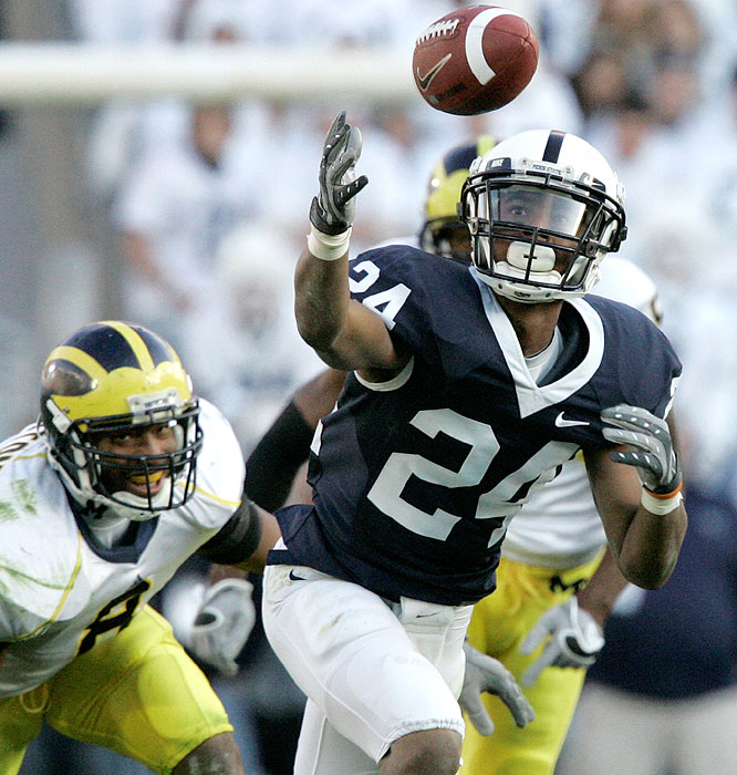 Jordan Norwood and the Nittany Lions overcame a 17-14 halftime deficit with 32 unanswered points to snap a nine-game losing skid against Michigan and stay unbeaten.