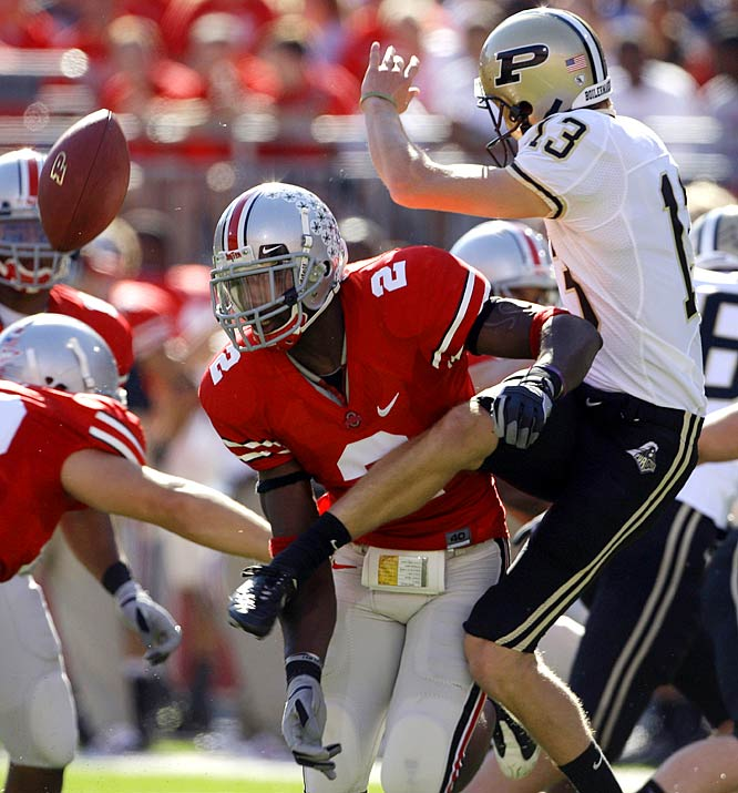 Malcolm Jenkins blocked a punt and Etienne Sabino returning it 20 yards for a touchdown as the Buckeyes special teams and defense lead the way to a 16-3 victory over Purdue.