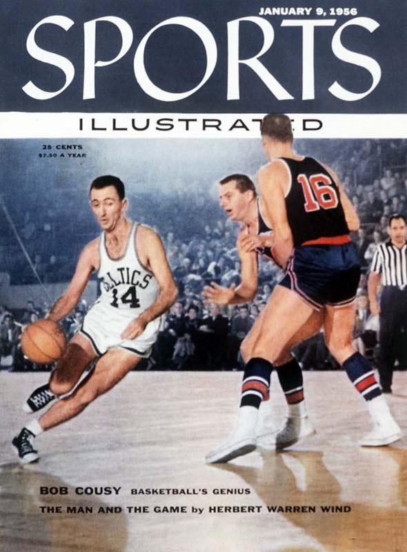 Bob Cousy was one of the earliest pieces in the Celtics' dynasty of the `50s and `60s. He earned All-NBA honors and led the Celtics to the playoffs, but they didn't get over the hump until after the 1956 draft, which brought Tom Heinsohn, guard K.C. Jones and Bill Russell to Boston.