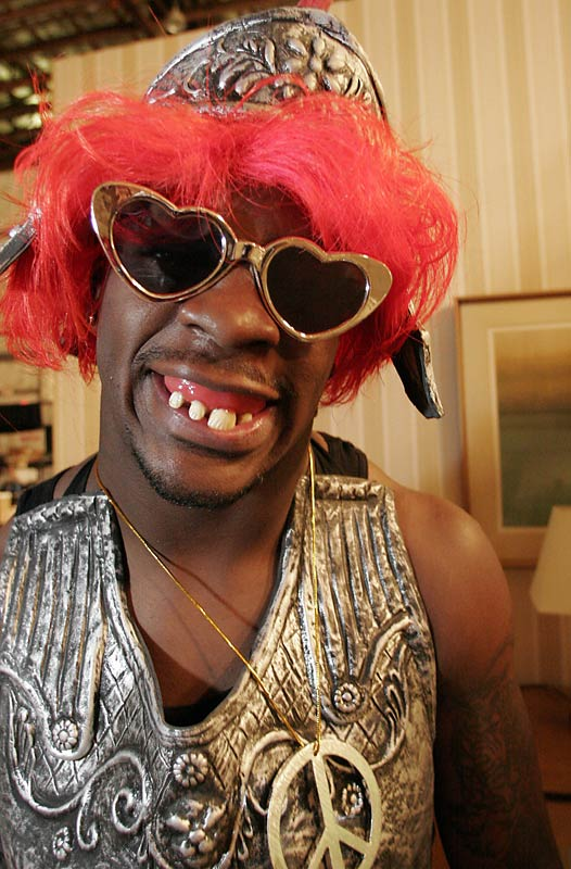 He's a one-man Halloween shop with his many alter-ego. The many faces of Redskin running back Clinton Portis includes The Mad Scientist, Southeast Jerome, Dr. I Don't Know, Sheriff Gonna Getcha and Dolla Bill and Kid Bro Sweets, where Portis dons a wig and gigantic green sunglasses shaped in hearts.