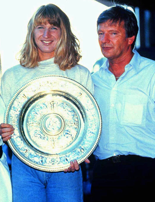 Steffi Graf becomes the youngest woman to win 500 pro tennis matches.