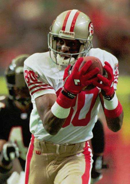 Jerry Rice of the San Francisco 49ers becomes the NFL's career leader in receiving yards with 14,040 yards.