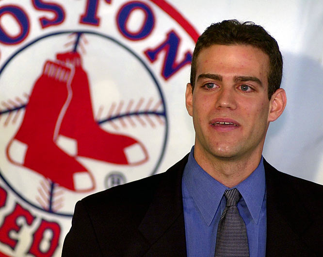 On Halloween night, former Red Sox General Manager Theo Epstein resigns from the Red Sox and eludes the media parked outside Fenway Park disguised in a gorilla suit. At a future charity event, the hairy costume will be auctioned and will make $11,000 for the Jimmy Fund and Epstein's Foundation To Be Named Later.