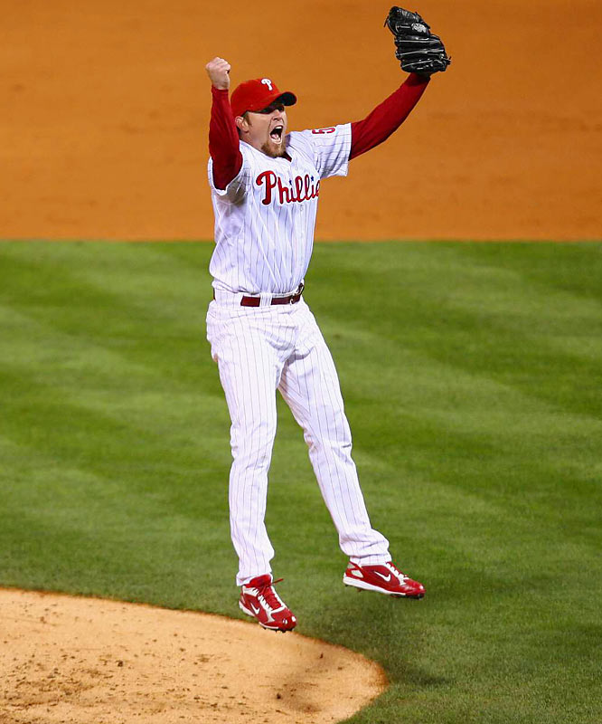 Brad Lidge was lights-out in the postseason for the Phillies. In all, the Philadelphia closer pitched 9.1 innings, gave up one earned run, and struck out 13. He was seven-for-seven in save opportunities, including the World Series-clinching save in Game 5.