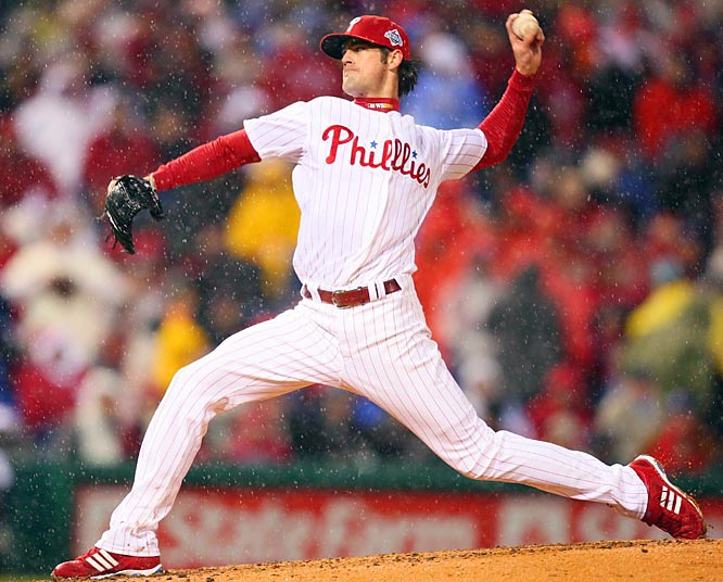 Series MVP Hamels entered Game 5 with a 1.55 ERA and four wins in the postseason. Even as the field puddled around him, he held the Rays in check.